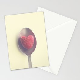 Raspberry love Stationery Cards