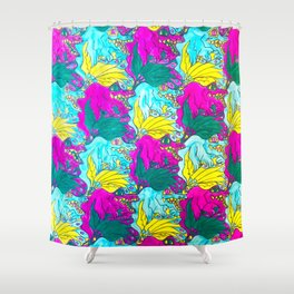 The Alligator Grins / The Peacock Weeps Shower Curtain