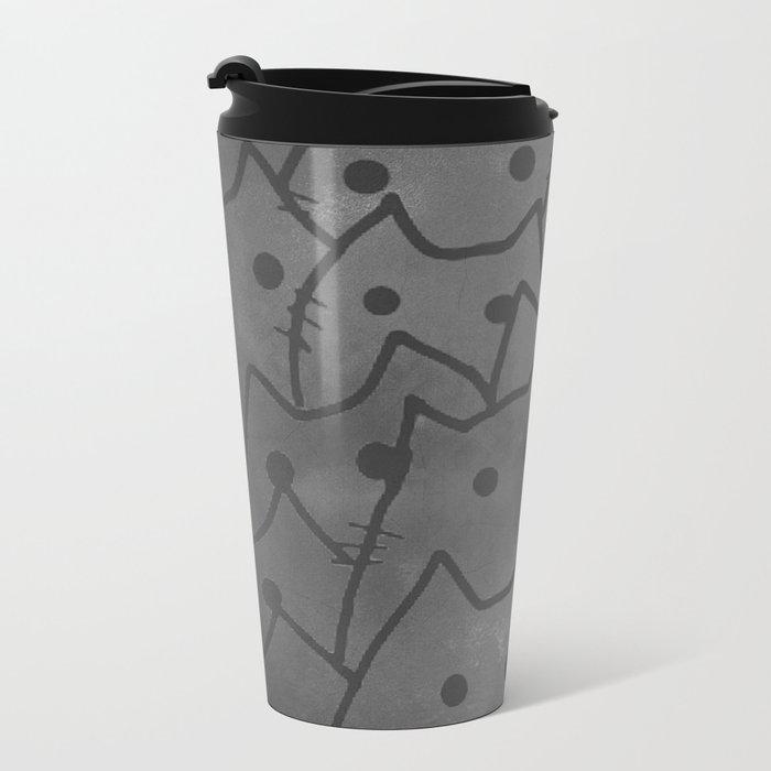 cats-318 Metal Travel Mug