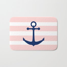 AFE Nautical Navy Ship Anchor Bath Mat