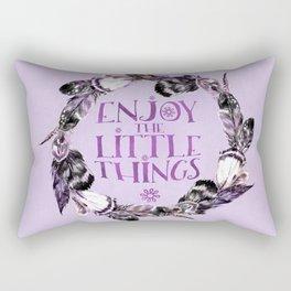 Enjoy The Little Things Typography Rectangular Pillow