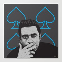 johnny cash Canvas Prints featuring JOHNNY CASH by Kayser152