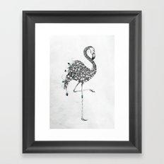 Poetic Flamingo Framed Art Print