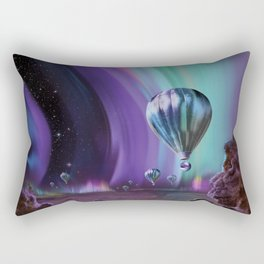 Jupiter Auroras - Retro Space Tours Rectangular Pillow