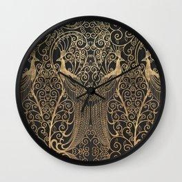 ART DECO PEACOCKS Wall Clock
