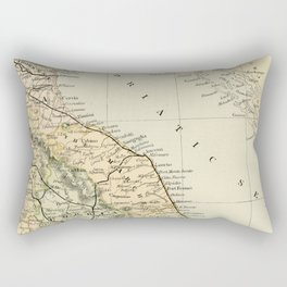 Retro & Vintage Map of Northern Italy Rectangular Pillow