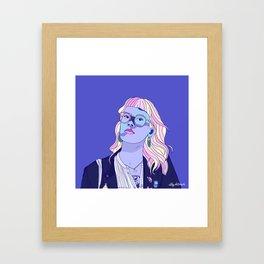 Cute pastel girl Framed Art Print