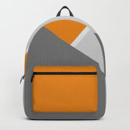 Orange And Gray Backpack