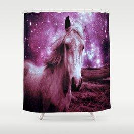 Mauve Horse Celestial Dreams Shower Curtain