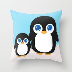 Adorable Penguins Throw Pillow