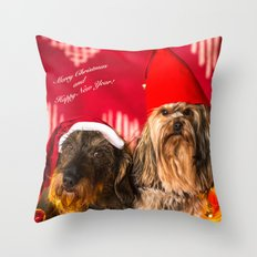 Merry Christmas and Happy New Year! Throw Pillow