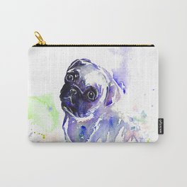 Purple Pug Puppy Carry-All Pouch