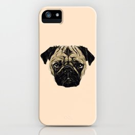 Geometric Pug iPhone Case
