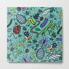 Bug Pattern Metal Print