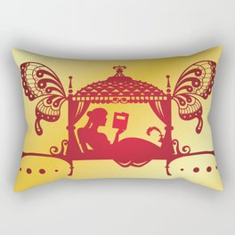 Bridal Palanquin India.doli silhouette Rectangular Pillow