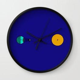 Solar Eclipse Illustrated Wall Clock
