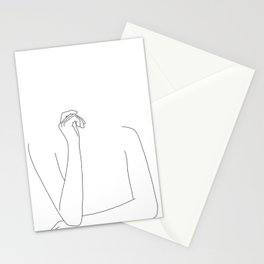Woman's arms minimal illustration - Zoe Stationery Cards
