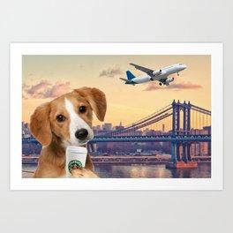 Bree in New York Art Print
