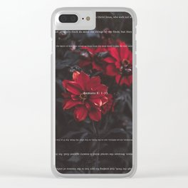 Romans 8:1-13 Clear iPhone Case