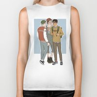 college Biker Tanks featuring College AU Zarriall by vulcains