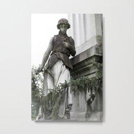 Guardian with Garland Metal Print