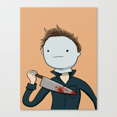 Adventure Time with Michael Myers Canvas Print