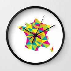 Abstract France Bright Earth Wall Clock