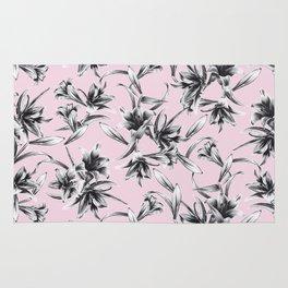 Lilium Pattern in rose Rug