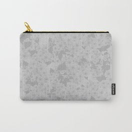 Subtle Blossom (Dove Grey) Carry-All Pouch