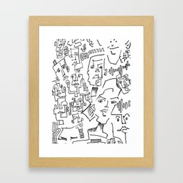 ten faced Framed Art Print