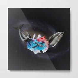 Cosmic Whale Metal Print