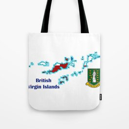 British Virgin Islands with Flag and Crest Tote Bag