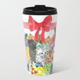Christmas kittens Travel Mug