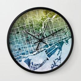 Toronto Street Map Wall Clock