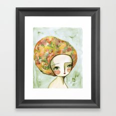 The Muse Of Autumn Framed Art Print