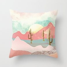 Desert Mountains Throw Pillow