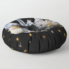 Star Aura Quartz Floor Pillow