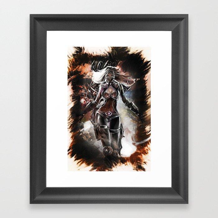 League of Legends NIGHTBLADE IRELIA Framed Art Print by naumovski ...