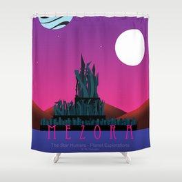 Planet Exploration: Mezora Shower Curtain