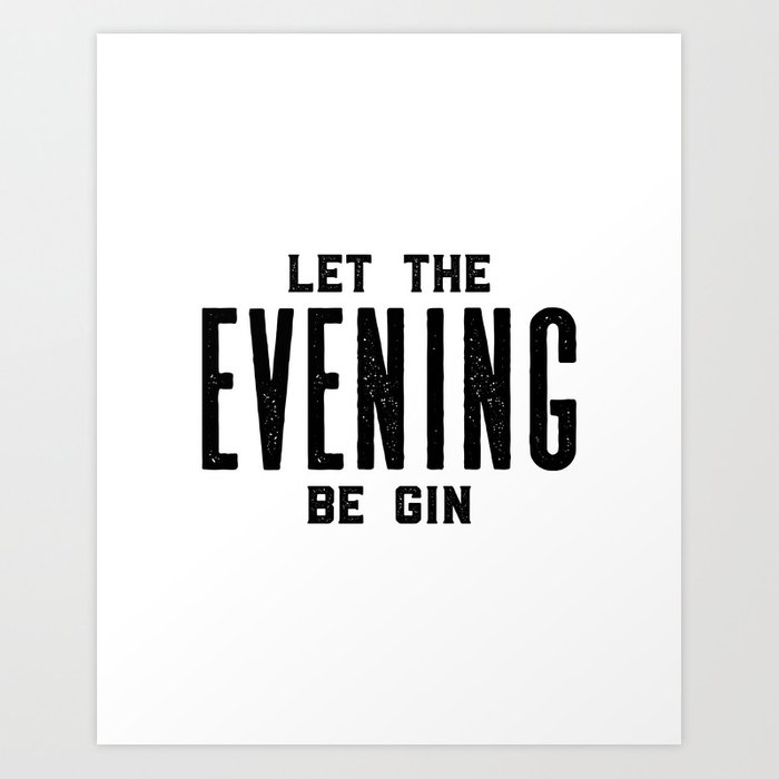 HOME BAR DECOR, Let The Evening Be Gin,Funny Bar Decor,Alcohol Sign ...
