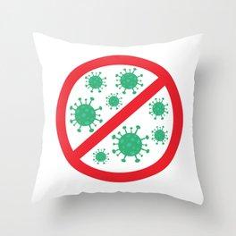 no virus  Throw Pillow