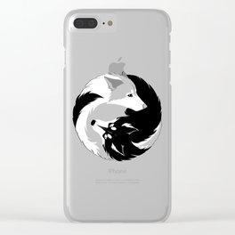 Husky love Clear iPhone Case