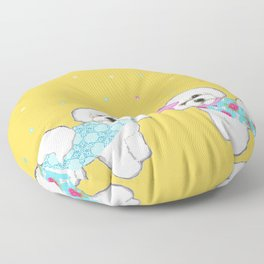 Bichon Frise Holidays yellow cute dogs, Christmas gift, holiday gift, birthday gift, dog, Bijon Floor Pillow