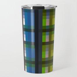 colorful striking retro grid pattern Nis Travel Mug