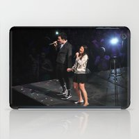 glee iPad Cases featuring Glee Concert: Lea Michele and Chris Colfer by Jackie Lalumandier