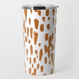 Copper Brushstrokes #society6 #decor #interiors Travel Mug