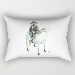 Numero 7 -Cosi che cavalcano Cose - Things that ride Things- SERIE ARGENTO - SILVER SERIES Rectangular Pillow