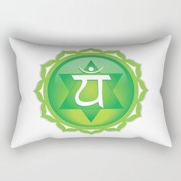 Heart Chakra Symbol Rectangular Pillow