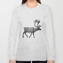 Moose Silhouette | Forest Photography Long Sleeve T-shirt