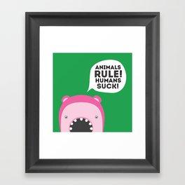 Animals rule Framed Art Print